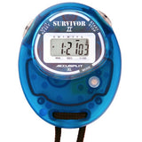 S2XL - Original Survivor 2 Series Chronograph Stopwatch in Transparent Aqua Case