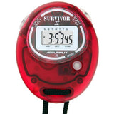 S2XL - Original Survivor 2 Series Chronograph Stopwatch in Transparent Cherry Case