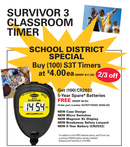 SURVIVOR 3 Classroom Timer Package