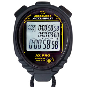 AX602M500 - 500 Memory Stopwatch With Multi-Mode Countdown Timer, Stroke/Stride Rate Calendar, Data Bank & more