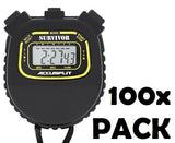 S1XLBK Survivor I Series Chronograph Stopwatch - 100 Pack