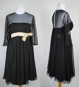 1950s Chiffon Cocktail Dress