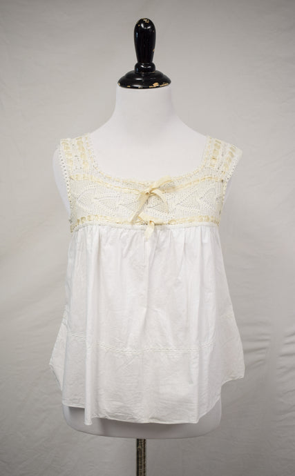 1910s Edwardian Crochet & Ribbon Camisole