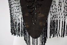 1890s Victorian Mourning Jet Mantel Cape