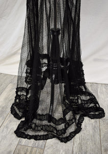 1910s Edwardian Sheer Swiss Dot Evening Set