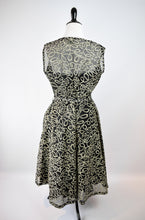 1940/50s Sheer Flocked Dress