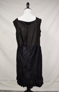 1900s Antique Black Slip Dress