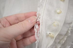 1910s Edwardian Middy Lace Blouse