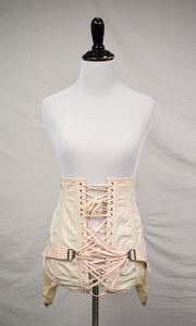 1940s Pale Pink Camp Fan Lacing Corset