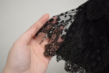1890s Antique Victorian Silk & Lace Evening Collar Capelet