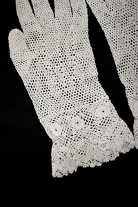1910s Edwardian Crochet Tea Gloves