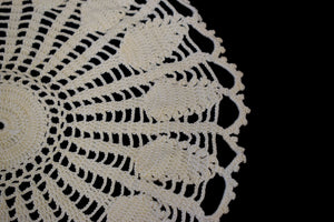 Vintage Black Victorian Style Scarf