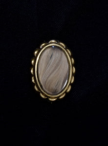 Antique Victorian Gold Plate Mourning Hair Pin