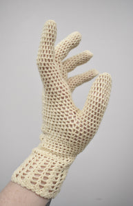 Vintage Edwardian Style Crochet Gloves