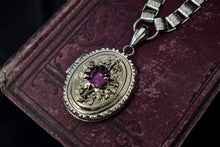 Vintage Victorian Revival Bookchain Locket Necklace