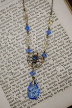 1940s Ward Brothers Czech Glass & Brass Spider Necklace