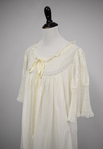 Antique 1910s Edwardian Flutter Sleeve Nightgown