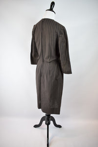 1960s Pinstripe Wiggle Dress