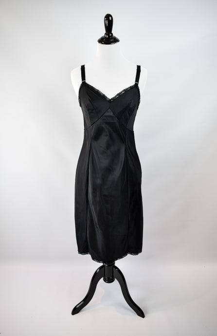 1970s Black WonderMaid Slip