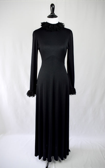 1970s Witchy Maxi Dress