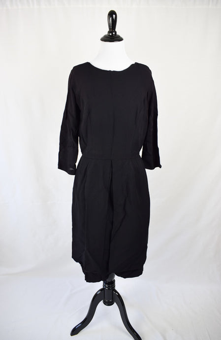 1960s Crepe 1/4 Length Sleeve Dress - AS IS