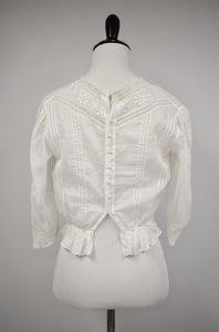 1910s Edwardian Floral Embroidered Blouse
