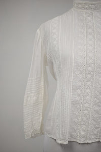 1910s Edwardian Broderie Anglaise Blouse