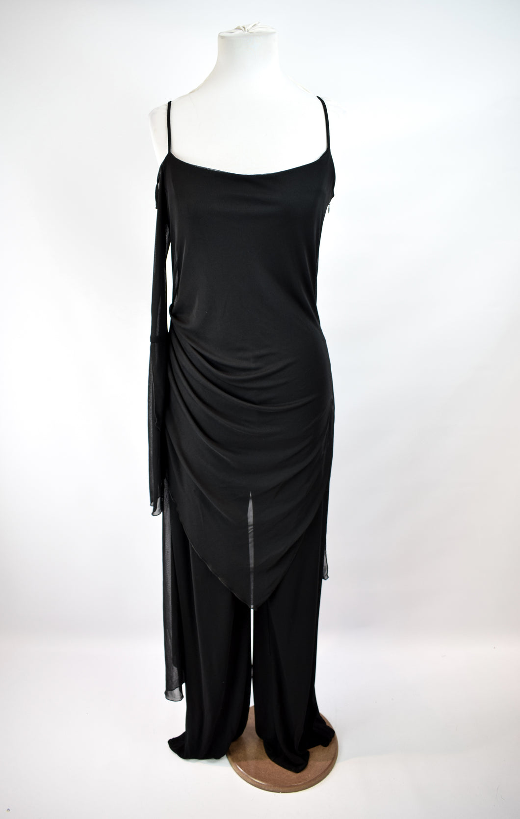 1990s Asymmetrical One Shoulder Jumpsuit