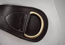 1990s Brown Leather D-Ring Belt