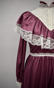 1970s Victorian Revival Gown