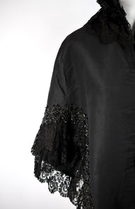1880s Victorian Mourning Mantle Cape