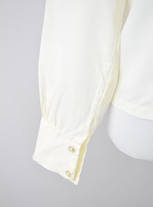 1950s Cream Ruffle Blouse