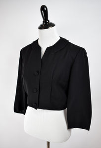 1940/50s Black Cropped Jacket
