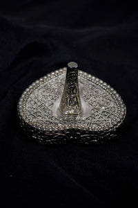 Vintage Silver Engraved Ring Stand