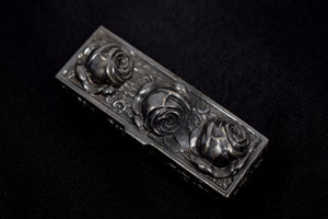 Vintage Metal Rose Trinket Box