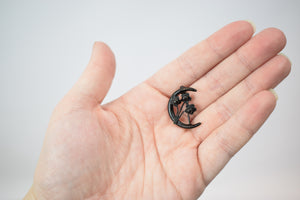 1890s Victorian Mourning Moon Pin