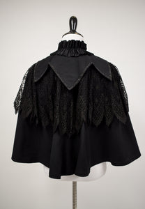 {ON LAYAWAY} 1910s Edwardian Beaded Lace Overlay Capelet
