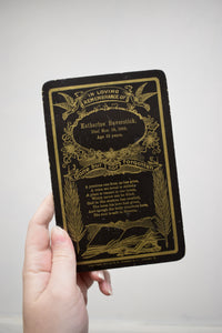 1900s Antique Funeral Announcement
