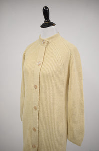 1970s Beige Sweater Coat