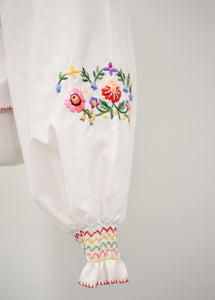 1960/70s Embroidered Folk Blouse