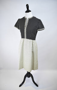 1960s Quilted Cotton Dress
