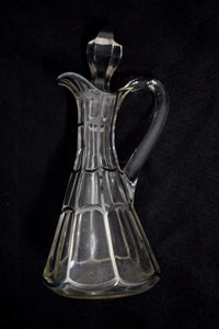 Vintage Silver Spiderweb Glass Cruet