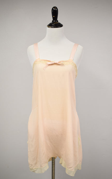 1920s Pale Pink Silk Step-In