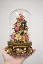 Vintage Victorian Style Glass Dome Floral Display