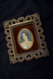 1970s Framed Cameo Portrait
