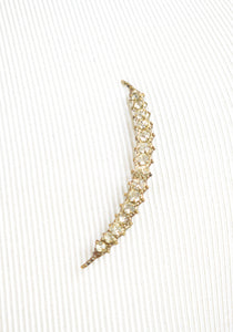 1880s Victorian Paste Crescent Moon Pin
