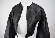 1880s Victorian Mourning Bell Sleeve Bodice
