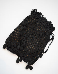 1890s Victorian Crochet Mourning Bag