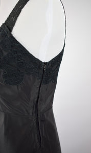 1950s Black Lace Slip