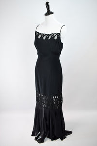 1990s Does 30s Beaded Handkerchief Gown